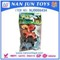 funny cheap mini plastic toy animal for kids