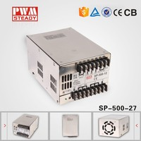 aluminium case SP 500W 27V 18A Single Output PFC switching mode power supply, universal power supply for tv, meanwell style smps