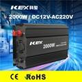 Alta eficiencia de conversión home use small power inverter 2000 w dc 12 v ac 220 v con CE ROHS KEX-32000