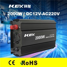 High conversion efficiency home use small power inverter 2000w dc 12v ac 220v with CE ROHS KEX-32000