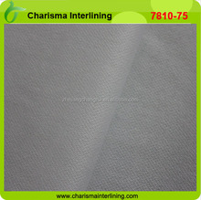 Polyester fabric wholesale man suit interlining wholesale fusible interfacing