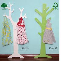 Decorative KD wooden coat racks wall mounted
