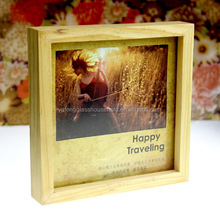 chic wooden support sanding picture photo frame