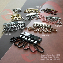 European standard red copper brushed key clasp for black purses