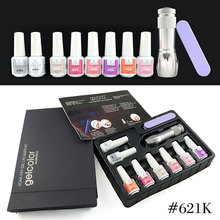 2015 New nail color polish gel supplies #621kw GDCOCO full set uv gel kit manicure