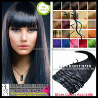 Accept Paypal Factory Price Quick Delivery Soft Smooth Dyeable Temple Indian Cheap Hair Extensions Clip In Full Head