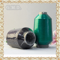 MX type Dongyang G.M.D 100% High tenacity Black and Green Polyester Wholesales Metallic Yarn for Kintting