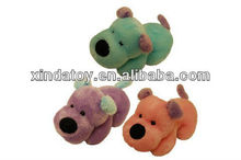 Plush Laying Colored Dogs toy