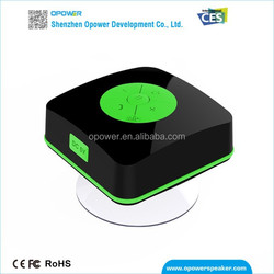 Cube design Bluetooth shower speaker accessory with handsfree function meeting CE RoHS QALITY