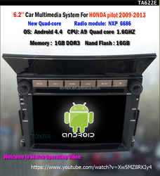Android car audio player for Pilot with GPS mult-media system quad core BT tv wifi 3G/4G SWC mirror link 2 year warranty