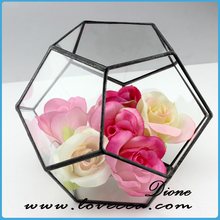 Folk Art Style Hand Blown Glass Arts and Crafts glass terrarium for Home Decoration