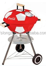 2015 High Quality Hamburger Shape Charcoal Kettle Ceramics Barbecue Grill & Smoker