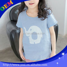 newest fashion children wear girl tee shirt with printing OEM