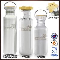 304 Stainless steel double wall heat preservation school water bottle for kids