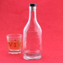 Food grade 750 ml vodka black glass bottle decorating whisky bottle champagne bottle 1500ml