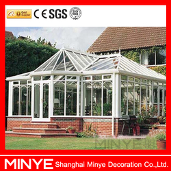For villa used design aluminum sun room/winter garden/glass sunrooms/greenhouse