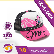 Japan kawaii cartoon PVC embroidery logo hot selling high quality trucker mesh cap and hat made in Guanddong factory better cap