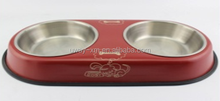 personalized steel pet water bowl/dog feeding bowl