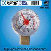 40mm dry pressure gauge with adjustable red pointer and female process connection
