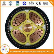 CE certified Low Voltage PVC Insulated, steel wire armored, PVC sheathed with copper conductor power electrical cable