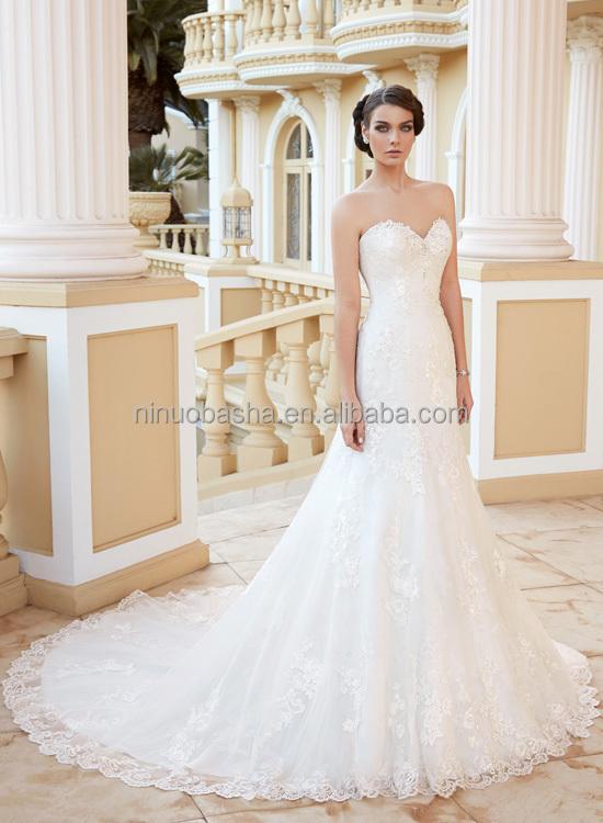 Charming 2015 Lace Mermaid Wedding Dress With Short Sleeve Jacket ...