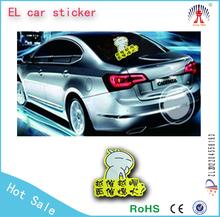 matte black car sticker/el sheet car sticker/equalizer el car sticker