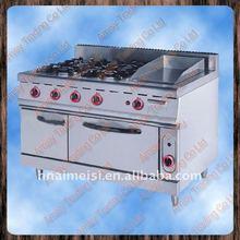 4 head burner 1 pan Gas range, kitchen gas range burner