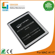 Best replacement Mobile Battery For Micromax A116 2000mah with dual IC