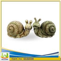 Polyresin 2 mods asst. Outdoor garden decorative land snails