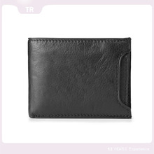 vintage full grain leather wallet RFID purse travel purse