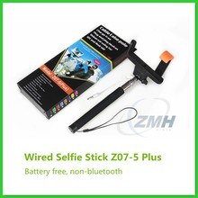 Non-bluetooth Cable Take Pole Selfie Stick Z07-5 Plus, Battery Free Wired Selfie Stick