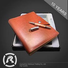 Professional Factory Supply Specialized Produce PU Cover Promotional Notebook With Pen