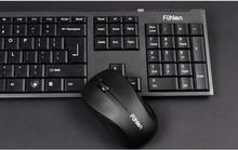 Quality assurance cheap 2.4GHz USB port 1000dpi Ultrathin black Silent waterproof Wireless mouse and keyboard set