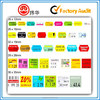 Accept Customized Self-adhesive Private Label Stickers