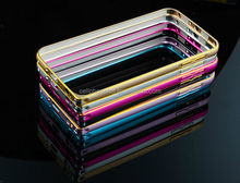 Hot Selling Double Color Hippocampal Buckle Metal Bumper for Samsung S6