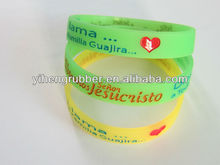 Glow in the dark silicone bracelet for basketball