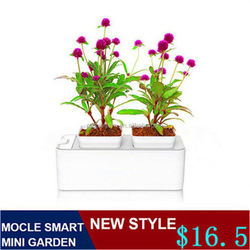Oval metal flower pot