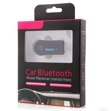 3.5mm jack Car kit adapter music receiver bluetooth handsfree car kit for iPhone Android phone