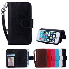 Fashion style filp leather case for iphone 5 cover, for iphone 5 cover with credit card slot and stand.