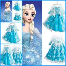 Newest elsa princess dress girls fashion frozen princess elsa costume with good quality BC2445