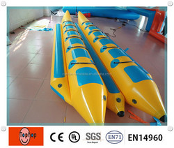 2016 hot sale inflatable water games 6persons double tube banana boat for sale