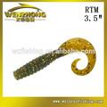 Wz rtm flexible al por mayor swimbait gusano suave señuelos de pesca señuelos de plástico/cebos