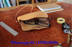 2015 custom handmade genuine leather glasses case wholesale from manufacturer
