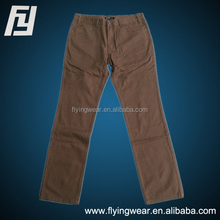 Classic Business Casual Men's Chinos Cotton Trousers Fit Straight Leg Slim Pants
