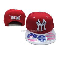 Fashion headwear NY CAP red hiphop running man baseball custom snapback hat and cap