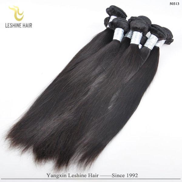 Fábrica preço barato por atacado 100 por cento humano barato feixes de cabelo em linha reta