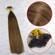 100% remy u/v/me/punta plana de pelo calidad fusion plana punta de la extensión del pelo