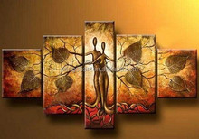 abstract indian frame africa woman oil painting from yiwu factory