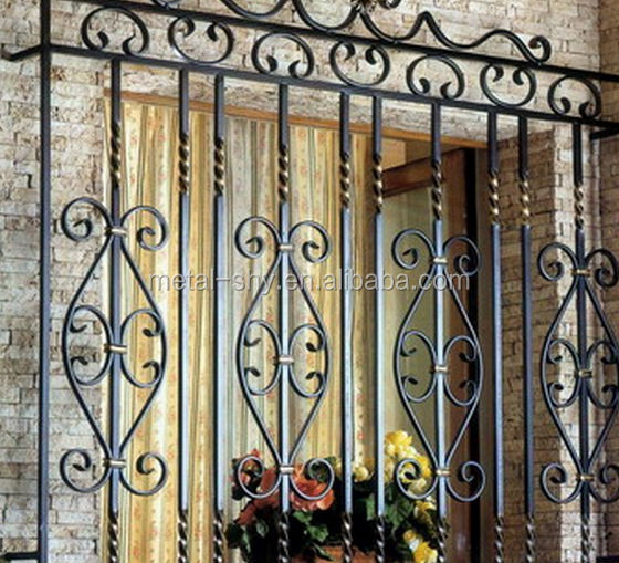 Wrought iron balcony grill design buy wrought iron for Balcony grills enclosure designs in india