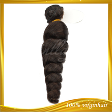 Online shop 8-36inch single donor natural color virgin cheap aliexpress brazilian hair loose wave weaves